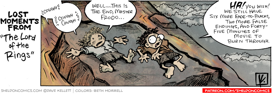 "strip for December / 1 / 2007 - Another Lost Moment from ""The Lord of the Rings"" includes..."
