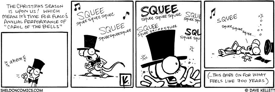 strip for December / 3 / 2007 - What is Flaco's annual Christmas tradition?