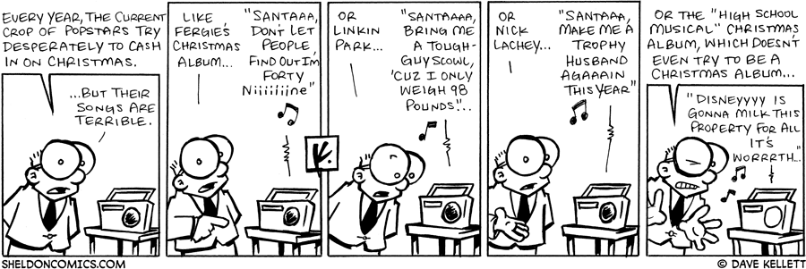 strip for December / 7 / 2007 - Popstars who have Christmas albums are...