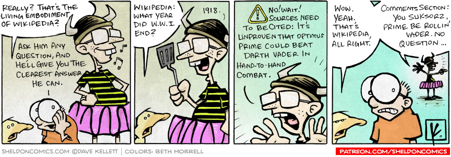 strip for December / 10 / 2007 - Arthur asks the living embodiment of Wikipedia, what...