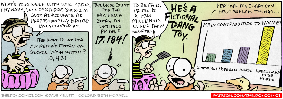 strip for December / 11 / 2007 - What's Sheldon's beef with Wikipedia?