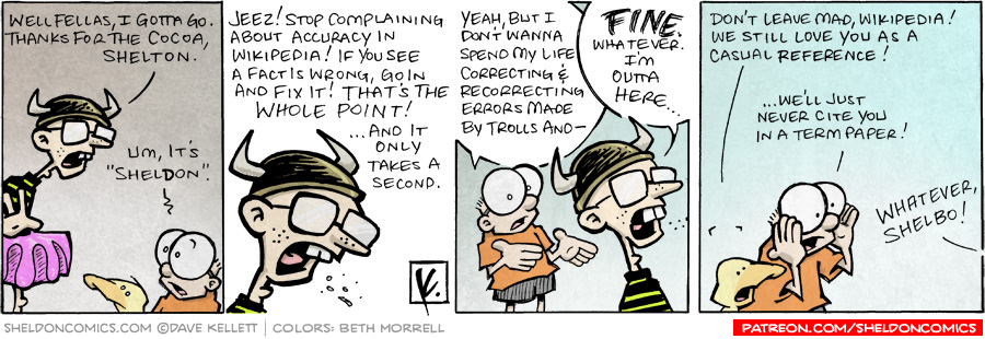 strip for December / 14 / 2007 - Will the living enbodiment of Wikipedia leave?
