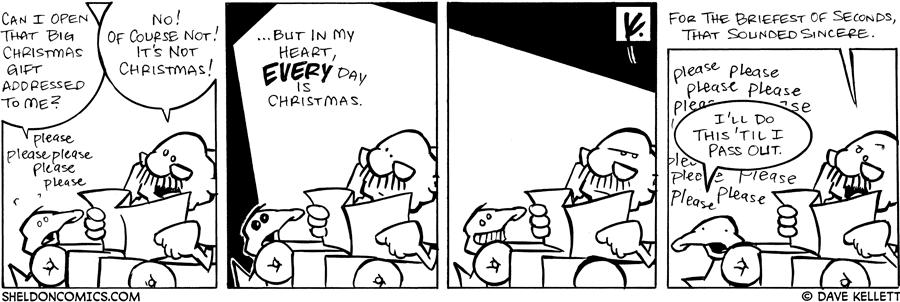 strip for December / 15 / 2007 - Will Gramp let Arthur open a Christmas present early?