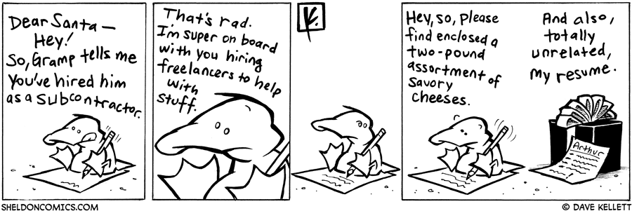 strip for December / 19 / 2007 - What is Arthur writing?