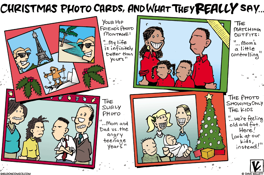 strip for December / 23 / 2007 - What do Photo Christmas cards really say?