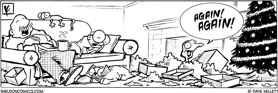 strip for December / 25 / 2007 - Is opening presents exciting?