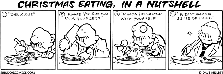strip for December / 26 / 2007 - What is Christmas Eating in a nutshell?