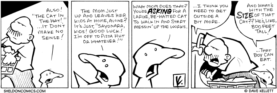 "strip for December / 29 / 2007 - What is Arthur's take on ""The Cat in the Hat?"""