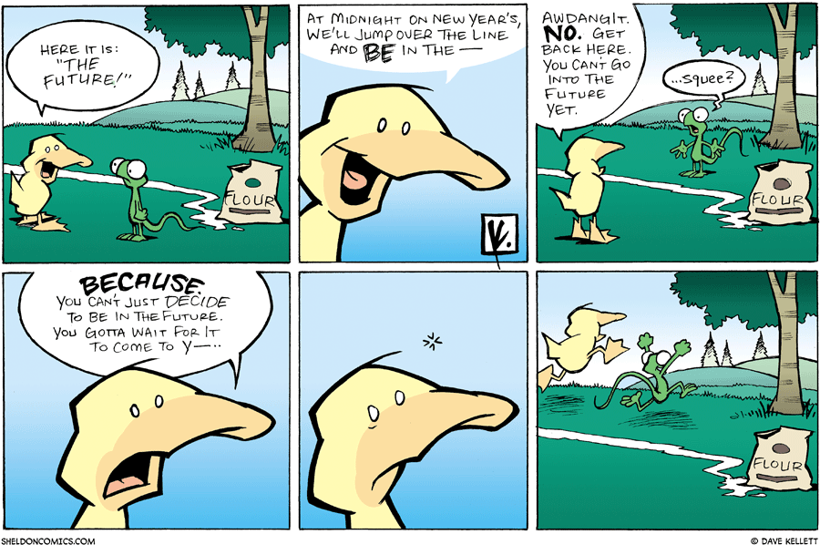 strip for December / 30 / 2007 - How will Arthur and Flaco ring in the new year?
