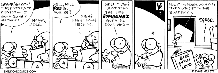 strip for January / 5 / 2008 - What will Sheldon do to get Arthur back?