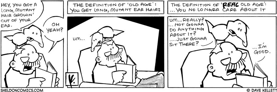 strip for January / 15 / 2008 - What does Arthur find in Gramp's ear?
