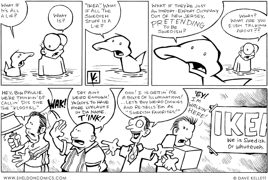 strip for January / 16 / 2008 - What does Arthur think about Ikea?