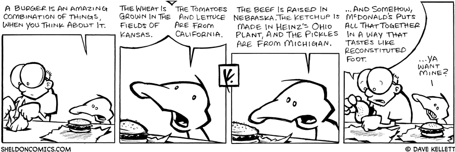 strip for January / 31 / 2008 - What is amazing about a burger?
