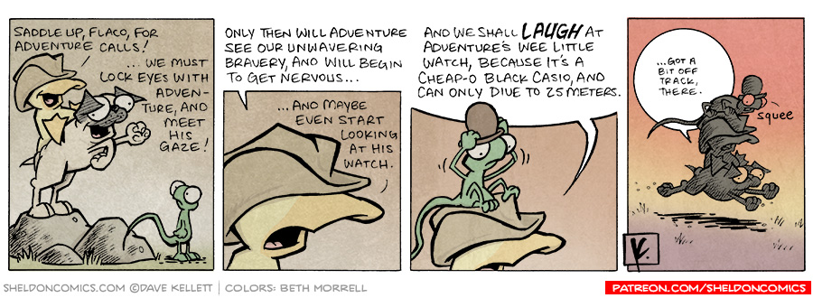strip for February / 4 / 2008 - Adventure calls for...