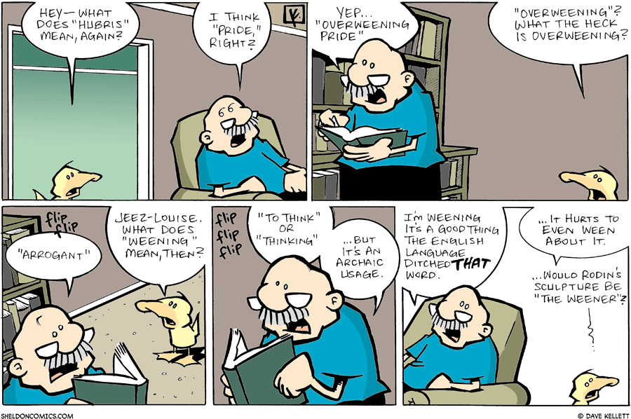 "strip for February / 10 / 2008 - What does ""Hubris"" mean?"
