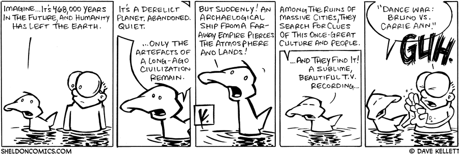 strip for February / 11 / 2008 - What would the Earth be like 468,000 years in the future?