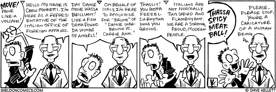 strip for February / 12 / 2008 - Italians are really like...