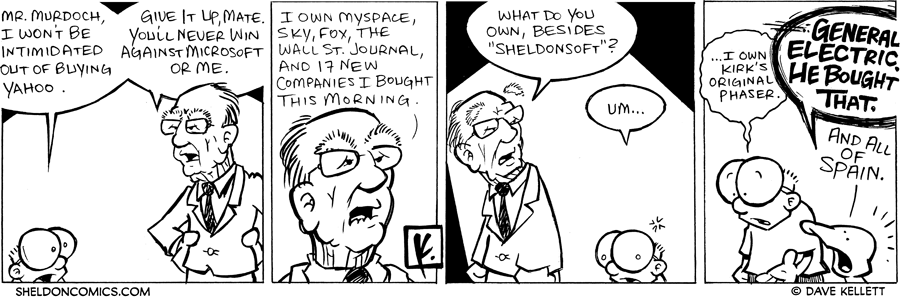 strip for February / 18 / 2008 - Can Sheldon stand up next to Murdoch?