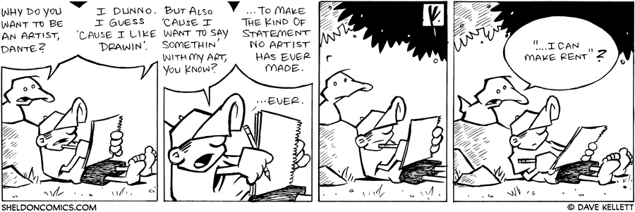 strip for March / 1 / 2008 - Why do you want to be an artist, Dante?
