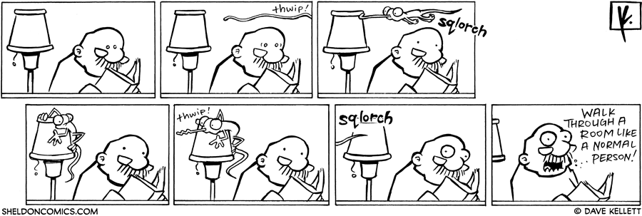 strip for March / 4 / 2008 - Gramp reads and...