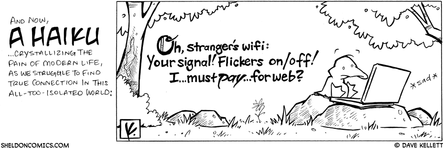 strip for March / 11 / 2008 - This haiku captures...