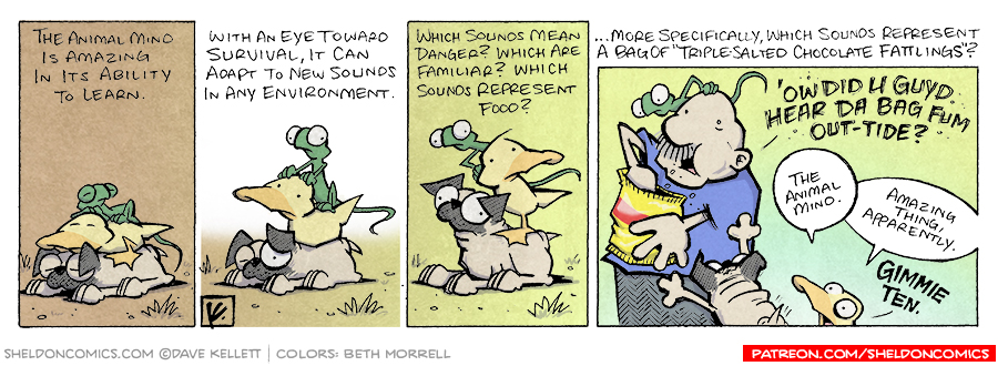 strip for March / 14 / 2008 - Why is the animal mind amazing?