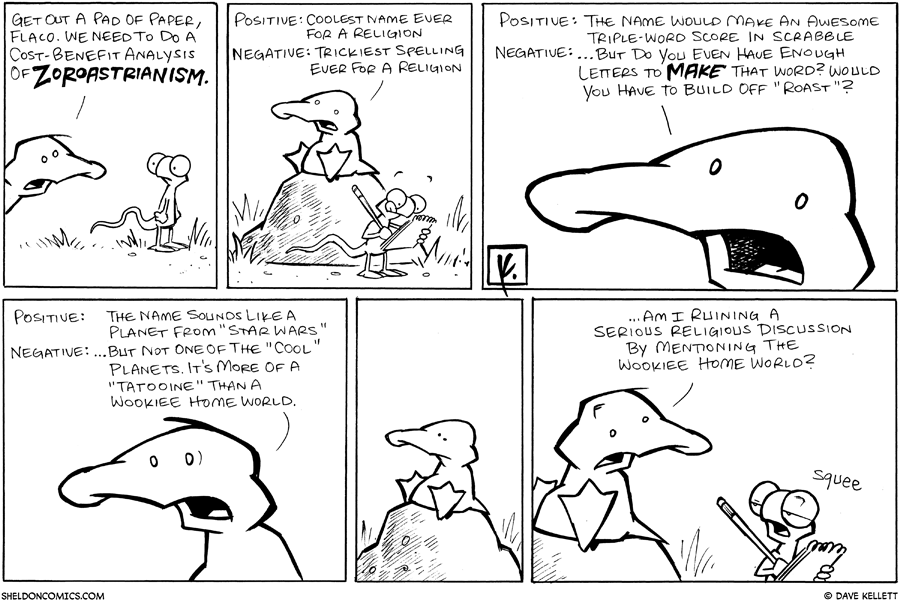 strip for March / 20 / 2008 - What is Zoroastrianism?