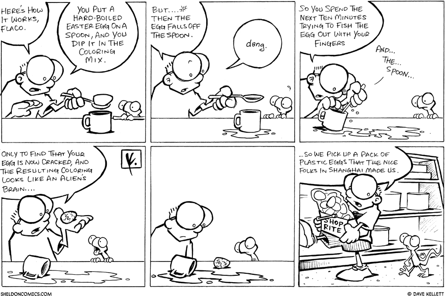 strip for March / 22 / 2008 - How does dying Easter eggs work?