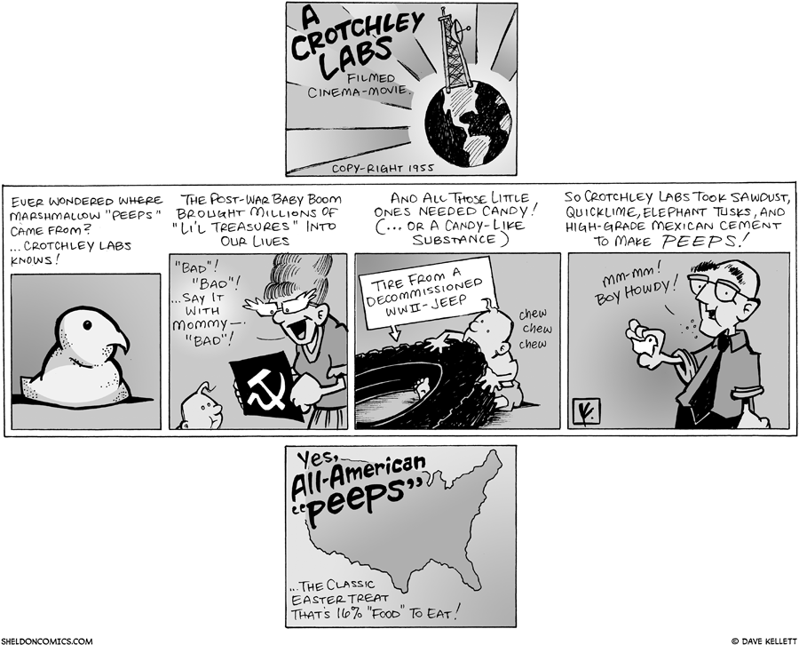 strip for March / 23 / 2008 - Where do peeps come from?