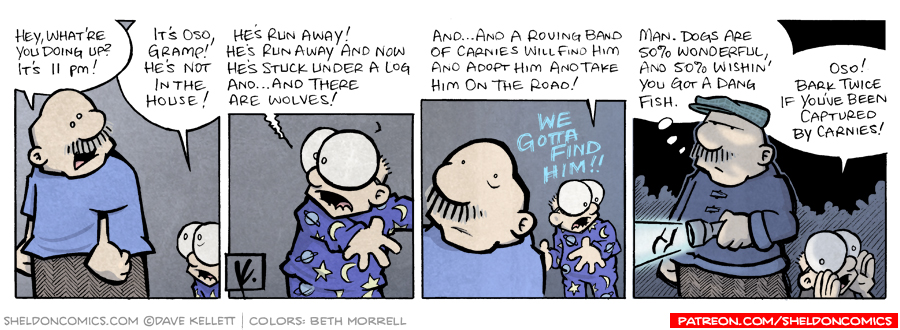 strip for March / 25 / 2008 - Why does Sheldon wake up?