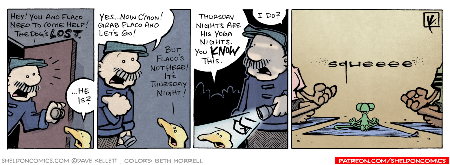 strip for March / 27 / 2008 - Will Arthur and Flaco help Gramps?