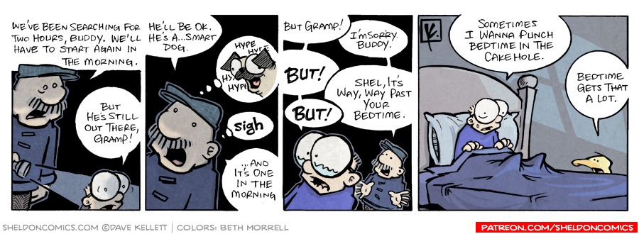 strip for March / 28 / 2008 - What does Gramp have to break to Sheldon?