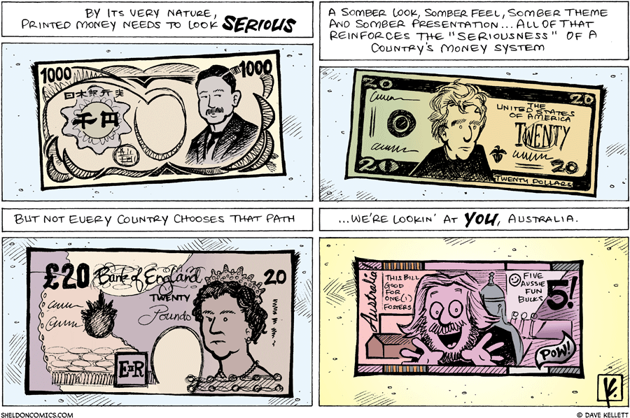 strip for March / 30 / 2008 - Why is printed money serious?
