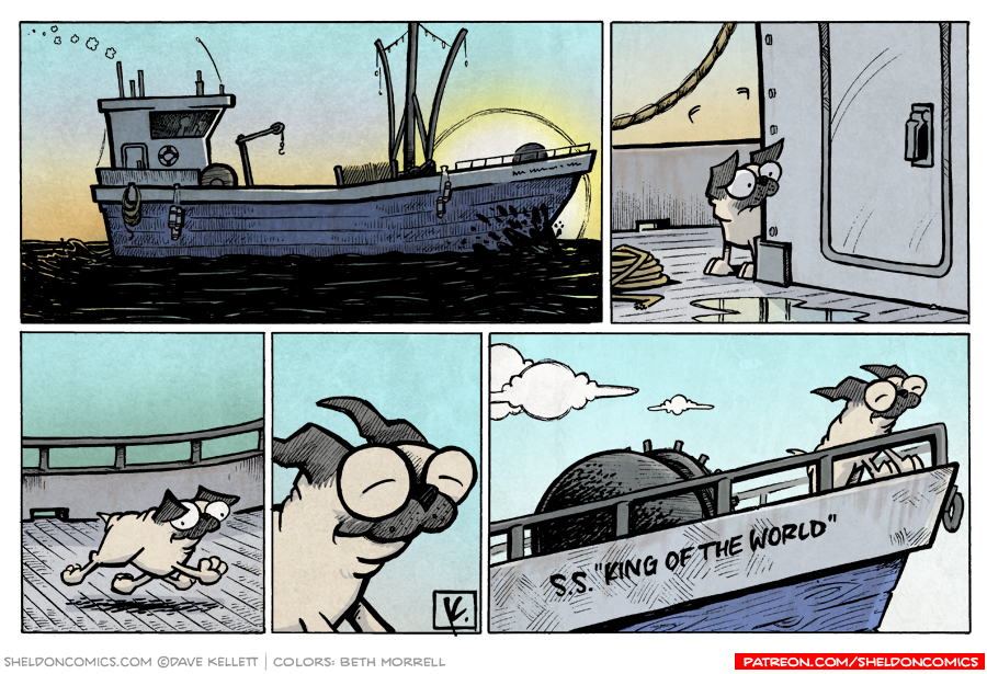 strip for April / 8 / 2008 - What does Oso do on a ship?