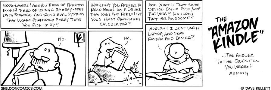 strip for April / 14 / 2008 - Are you a book lover?