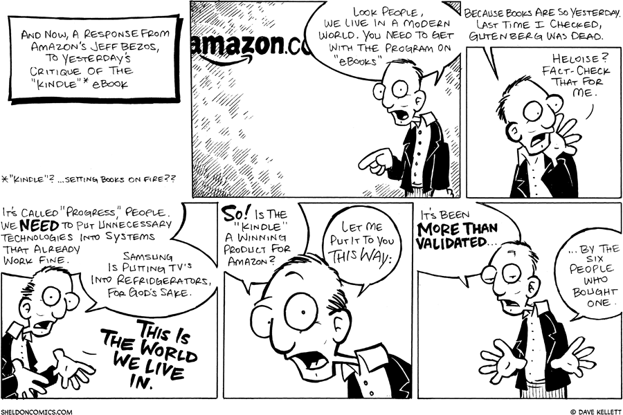 strip for April / 15 / 2008 - What does Amazon think of the Kindle?