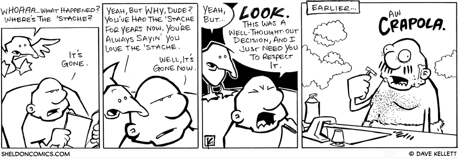 strip for April / 17 / 2008 - What happened to Gramp's 'stache?