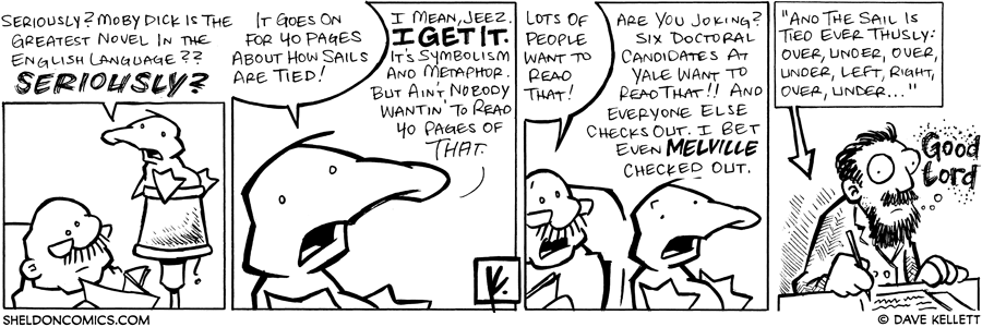 strip for May / 3 / 2008 - Moby Dick is the greatest novel in the English Language?