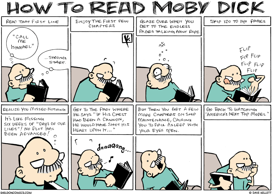 strip for May / 4 / 2008 - How do you read Moby Dick?