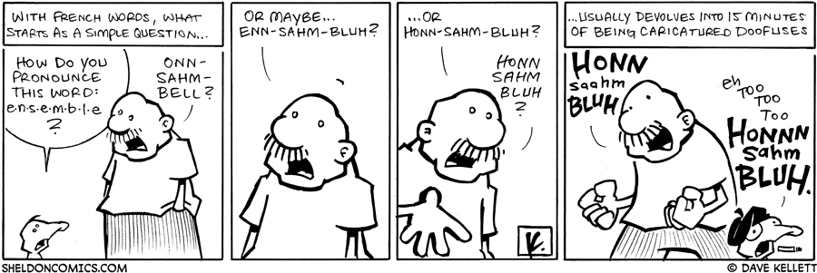 strip for May / 13 / 2008 - Arthur asks about French words and...