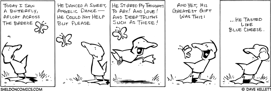 strip for May / 14 / 2008 - Arthur is amazed by a butterfly and...