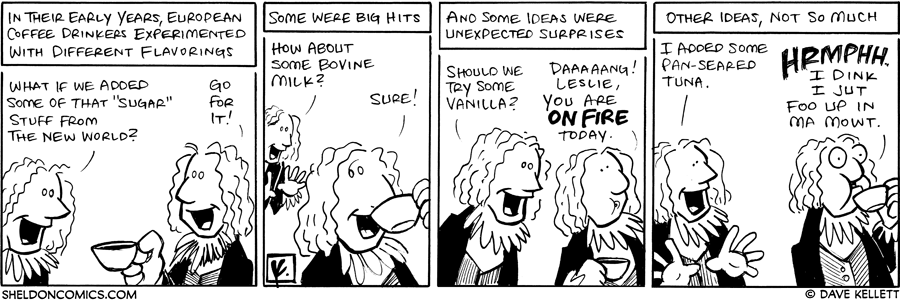 strip for May / 19 / 2008 - What did early coffee drinks experiment with?