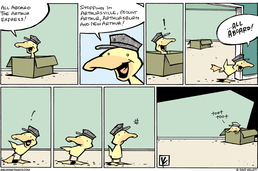 strip for May / 25 / 2008 - Arthur starts Arthur Express and...