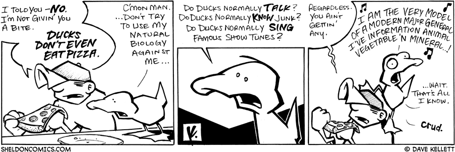 strip for May / 26 / 2008 - Will Dante give Arthur a bite of his pizza?