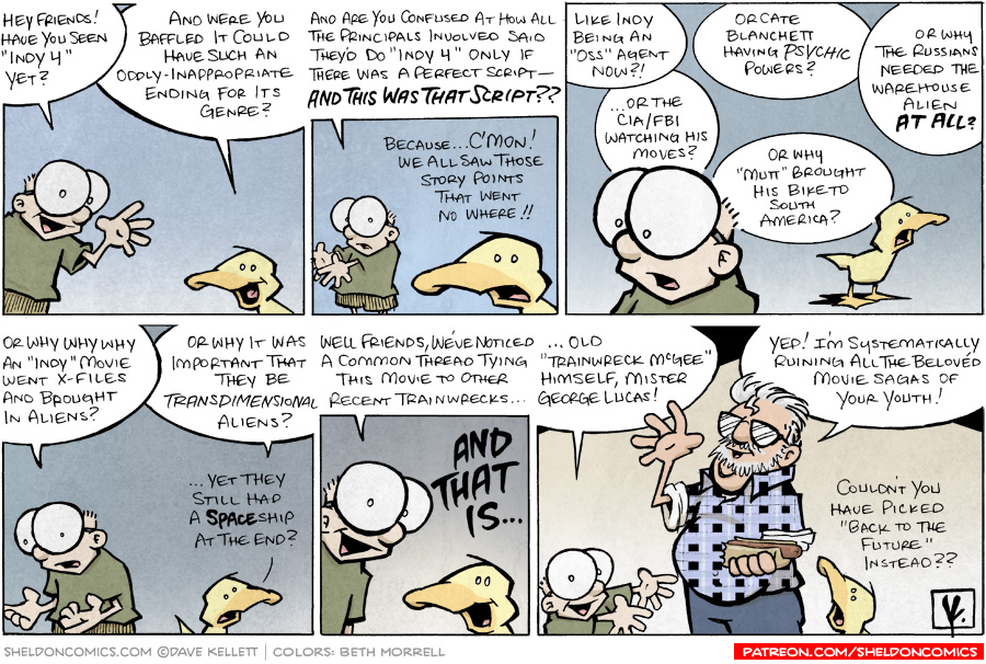 strip for June / 8 / 2008 - Don't Read unless you've watched Indy 4...