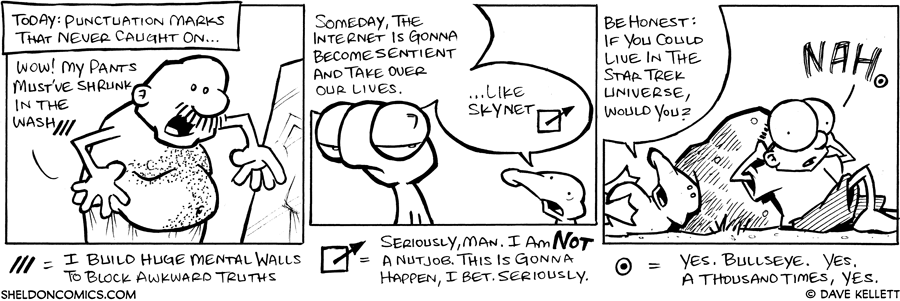 strip for June / 9 / 2008 - What are some punctuation marks that never caught on?