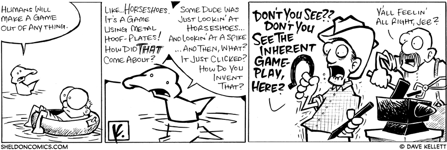 strip for June / 12 / 2008 - What will Humans make a game out of?