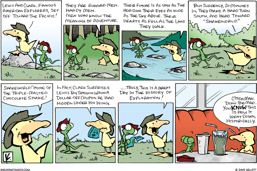 strip for June / 15 / 2008 - What are Arthur and Flaco role playing?
