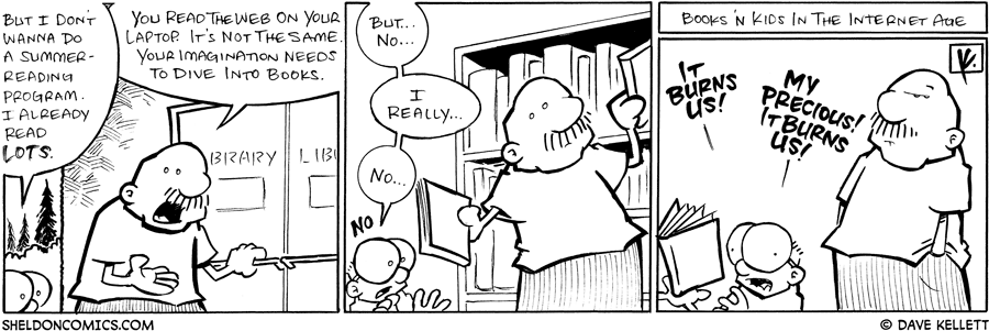 strip for June / 25 / 2008 - Will Gramp make Sheldon do a Summer Reading Program?