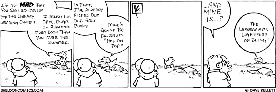 strip for June / 28 / 2008 - Who else is in the summer reading program?